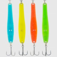 Electronic fishing spoon (spinner) 4 piece small